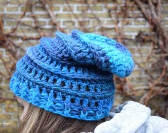 Crochet pattern The Blue Wonder Beanie Crochet Your Own Beanie Hat Adult PDF-file Hobbydingen