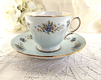 Colclough Teacup and Saucer, Ridgeway Potteries, Fine Bone China, Pattern #8243, Vintage Teacup, Made in England, Tea Party