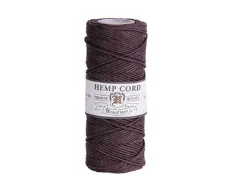 Hemp Cord Spool | Hemptique Dark Brown Hemp Cord Spool | Macrame Cord | String Art | Jewellery Making | Beading Cord | Twine | Australia