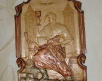 panels ZAPOROZHYE KOZAK lifts 40 cm, wooden panels, sul'ptura, hand-carved, handmade