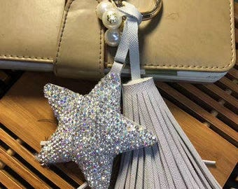Bling Bling Star Handbag Charm Chic Women Bag Charm Keychains