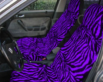 Purple Zebra Car Seat Covers....Many Colours...All Cars..