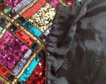Leslie Fay jacket Evening sequins