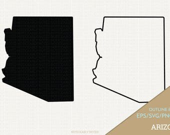 Arizona Vector, State Clipart, AZ Clip Art, Arizona SVG, State PNG  (Design 13754)