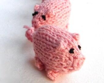 Rosa Schweinchen gestrickt Baby Spielzeug, Silvester-Geschenk, Stofftier Schweine, Waldorf Spielzeug, Parteibevorzugung, Party Dekoration, Tasche Spielzeug