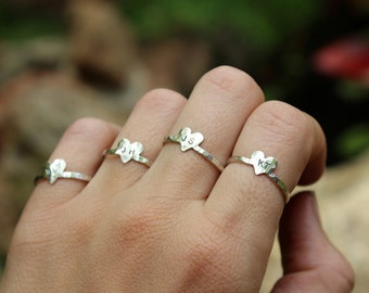 5 Bridesmaid Gift Rings - Personalized Initials
