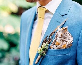 yellow skinny tie, mens yellow tie, mens skinny tie, wedding tie, mustard yellow tie