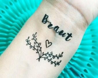 JGA + Team Braut - Braut - Boho Tattoo Set - Bachelorette