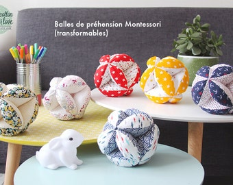 Gripping Montessori CONVERTIBLE ball (educational, educational, convertible puzzle ball, alternativeMontessori)