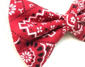 Red Country Bandana Dog Bow Tie