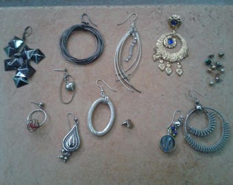 Single Earring Lot - 11 pcs plus - Crafts/Parts