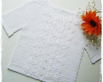 Vintage white blouse for children