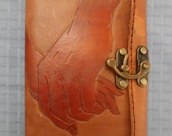 Handmade leather journal/notebook/diary cover