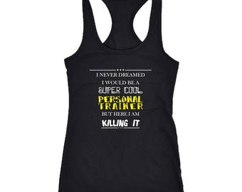 Personal Trainer Racerback Tank Top T-Shirt. Funny Personal Trainer Tank.