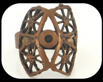 Rare Vintage Early PENTTI SARPANEVA FINLAND Bronze Ring