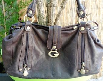 """Messenger bag  """"Gil Holster""""  ,Leather  shoulderbag  90's,French bag,"""