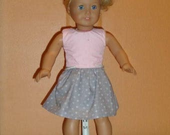 American Girl Pink and Gray Dress