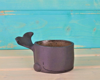 Small whale - ceramic bowl - bowls - jewelry box - ring shell - decorating - fun gift idea - production order