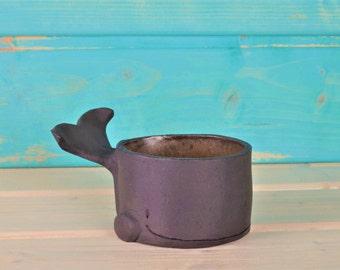 Kleiner Wal - Keramikschale - Schälchen - Schmuckdose - Ringschale - Deko - witzige Geschenkidee - Produktion auf Bestellung