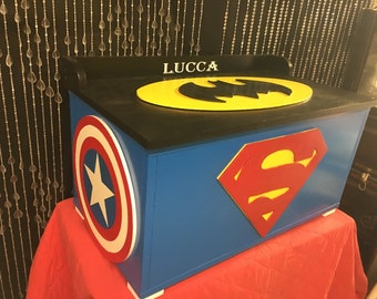 Batman   Super Hero Decor   TOY Boxes   Toy Storage   Toy Chests  Kids