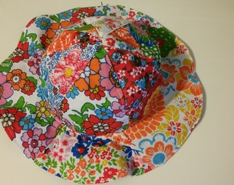 Floral baby hat.