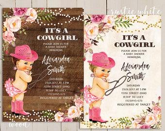 Itu0027s A Cowgirl Invitation, Itu0027s A Cowgirl Baby Shower Invitation, Rodeo Baby  Shower,