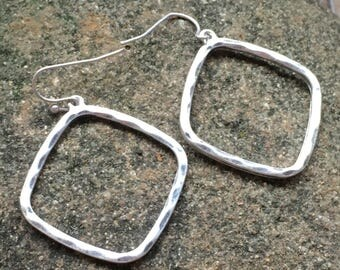 Reclaimed Sliver Plated earrings