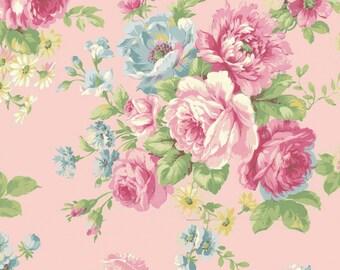 Quilt Gate USA Ruru Bouquet # RU2300-11B Pink Rose | By the yard