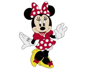 minnie mouse disney machine embroidery design, design for kids, fill embroidery design, instant download