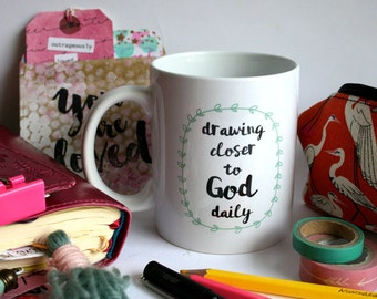Drawing Closer Bible Journalers Mug