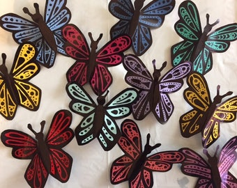 Upcycled Aluminum Can Wall Butterflies - Set of 3