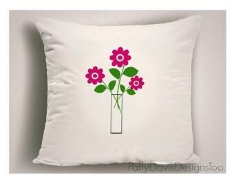 Floral Outdoor Throw Pillows, Unique Patio Pillows, Large Outdoor Pillow Cover, Outdoor Pillow Cushion, Outdoor Pillow Sets