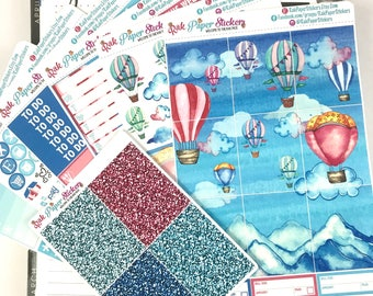 Float On  - 7 Sheets weekly decorating kit for your Erin Condren Life Planner!