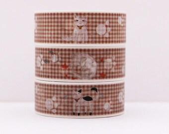Design Washi tape squared cat paws