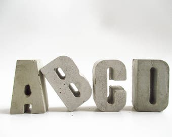 Concrete letters - Cement letters - Raw concrete - 3D letters - Alphabet - Home decor - Wedding gift - Gift - Decor - Personalized - Name