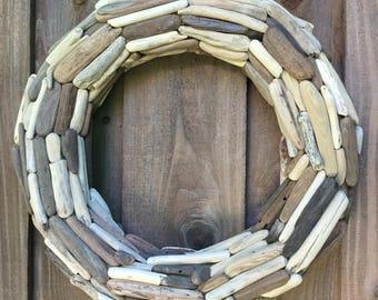 "20"" Driftwood Wreath, double sided - Northern California Drift wood"