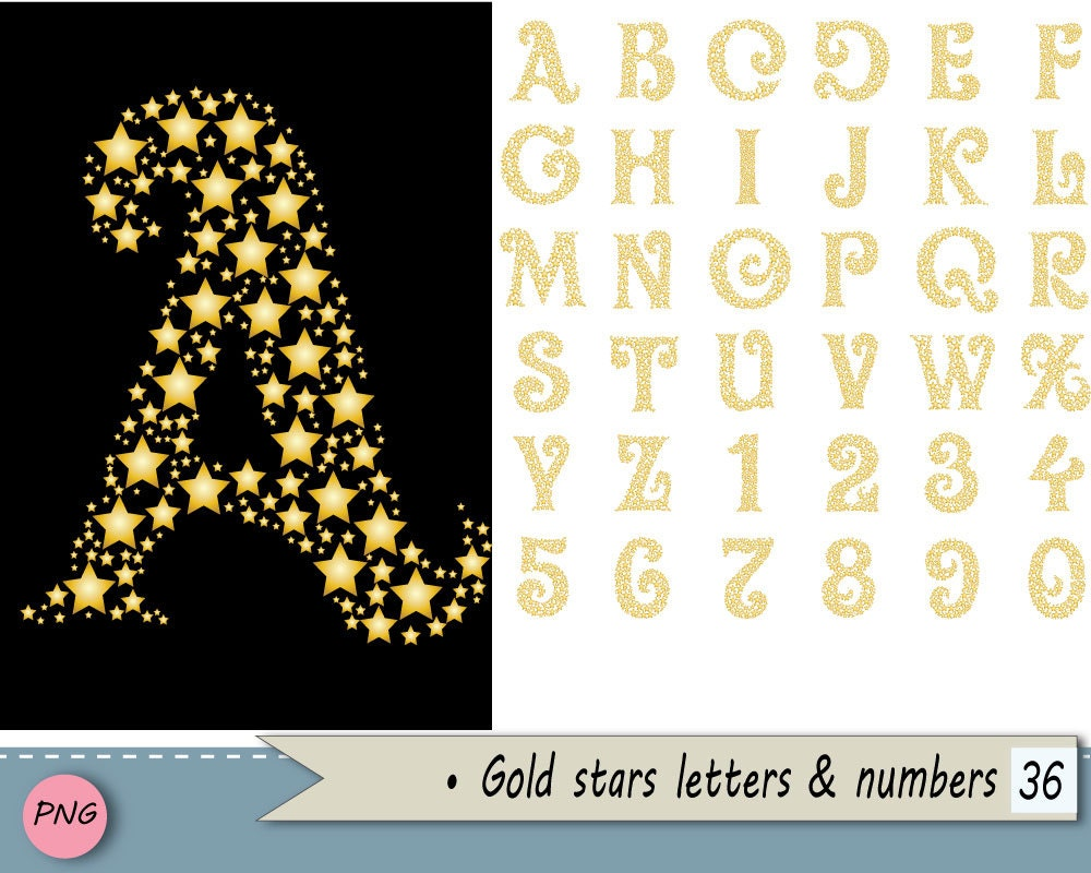 how to put star in letters