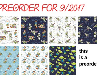 Toy story fabric - disney fabric- disney - woody - buz light year - material -sewing -supply - notion - bty -1 y
