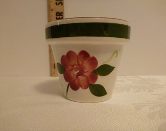 Stangl Red Rose 3'' Flower Pot  #3661