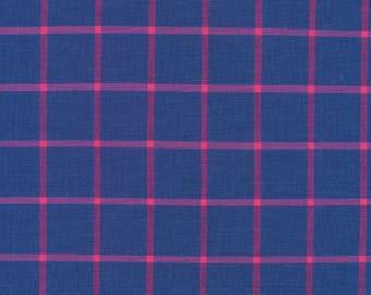 Ocean and Fuchsia Yarn-Dye from Window Dressing by Cloud 9 Fabrics