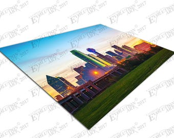 Print on Canvas downtown city of Dallas USA X1650