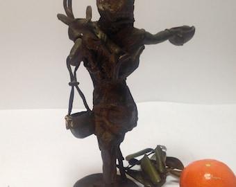 African bronze statue