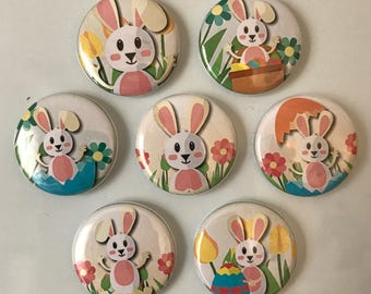 Easter Bunny Magnets - set of 7