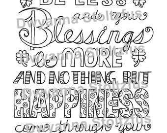 Irish Blessing Coloring Page PDF