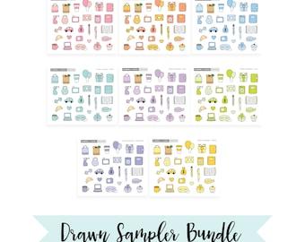 Drawn Monochrome Samplers // Bundle