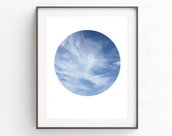Clouds Wall Print, Above Mantel Decor, Photography Wall Art, Entryway Decor, Modern Photography Print, Minimalist Modern Prints, Clouds