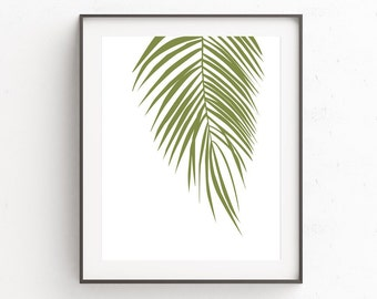 Palm Print Wall Art, Palm Leaf Print, Tropical Leafs Print, Tropical Leaf, Palm Tree Wall Print, Palm Tree Print, Tropical Decor Ideas