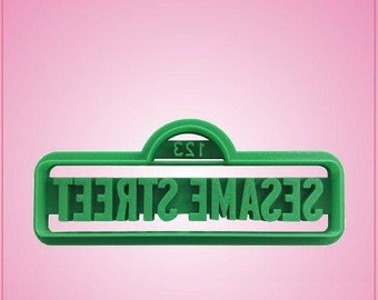 Embossed Street Sign Cookie Cutter