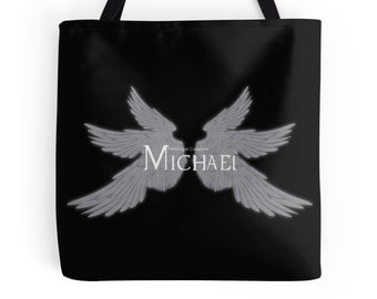 Supernatural Michael with Wings Tote Bag, 3 Sizes Available! - Archangel