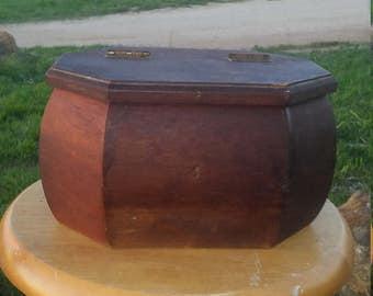 Eight Sided Keepsake Wooden Box